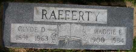 RAFFERTY, CLYDE D - Tulsa County, Oklahoma   CLYDE D RAFFERTY - Oklahoma Gravestone Photos