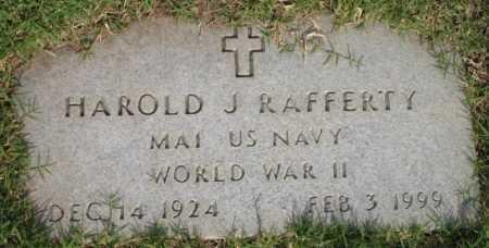 RAFFERTY, HAROLD J - Tulsa County, Oklahoma | HAROLD J RAFFERTY - Oklahoma Gravestone Photos