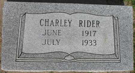 RIDER, CHARLEY - Tulsa County, Oklahoma | CHARLEY RIDER - Oklahoma Gravestone Photos