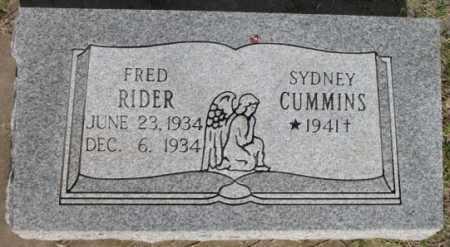 RIDER, FRED - Tulsa County, Oklahoma | FRED RIDER - Oklahoma Gravestone Photos