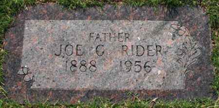 RIDER, JOE G - Tulsa County, Oklahoma   JOE G RIDER - Oklahoma Gravestone Photos