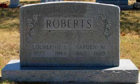 ROBERTS, HARDEN M - Tulsa County, Oklahoma | HARDEN M ROBERTS - Oklahoma Gravestone Photos