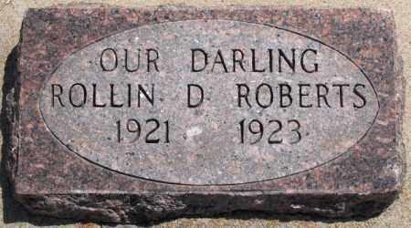 ROBERTS, ROLLIN D - Tulsa County, Oklahoma | ROLLIN D ROBERTS - Oklahoma Gravestone Photos