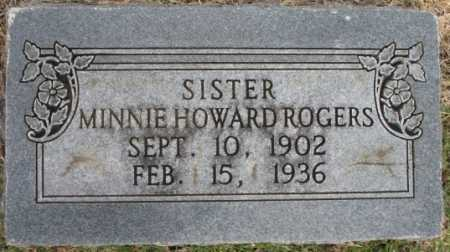 HOWARD ROGERS, MINNIE - Tulsa County, Oklahoma | MINNIE HOWARD ROGERS - Oklahoma Gravestone Photos