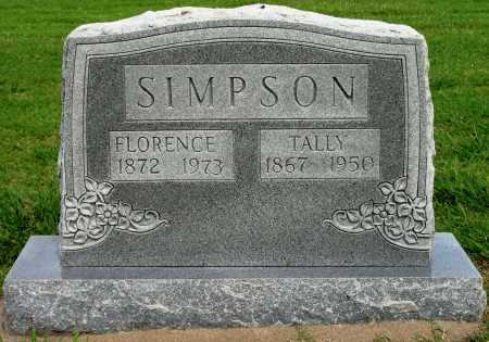 SIMPSON, TALLY - Tulsa County, Oklahoma | TALLY SIMPSON - Oklahoma Gravestone Photos