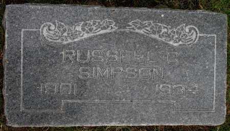 SIMPSON, RUSSELL G - Tulsa County, Oklahoma   RUSSELL G SIMPSON - Oklahoma Gravestone Photos