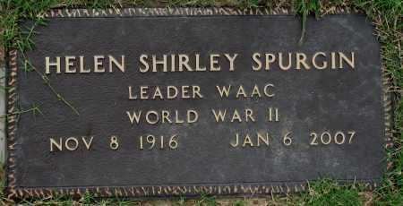 SPURGIN, HELEN SHIRLEY - Tulsa County, Oklahoma | HELEN SHIRLEY SPURGIN - Oklahoma Gravestone Photos
