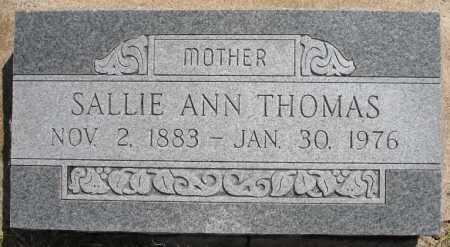 THOMAS, SALLIE ANN - Tulsa County, Oklahoma | SALLIE ANN THOMAS - Oklahoma Gravestone Photos