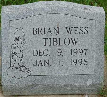 TIBLOW, BRIAN WESS - Tulsa County, Oklahoma   BRIAN WESS TIBLOW - Oklahoma Gravestone Photos