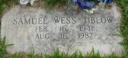 TIBLOW, SAMUEL WESS - Tulsa County, Oklahoma   SAMUEL WESS TIBLOW - Oklahoma Gravestone Photos