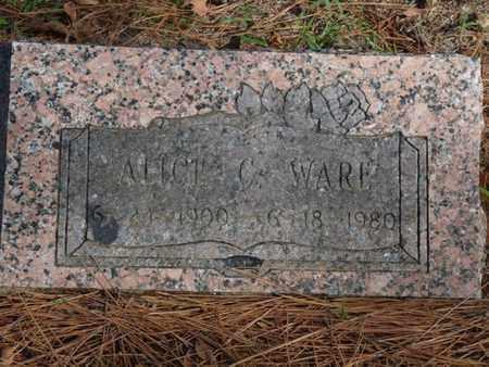 WARE, ALICE C. - Tulsa County, Oklahoma   ALICE C. WARE - Oklahoma Gravestone Photos