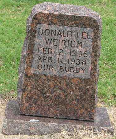 WEIRICK, DONALD LEE - Tulsa County, Oklahoma | DONALD LEE WEIRICK - Oklahoma Gravestone Photos
