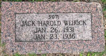 WEIRICK, JACK HAROLD - Tulsa County, Oklahoma | JACK HAROLD WEIRICK - Oklahoma Gravestone Photos
