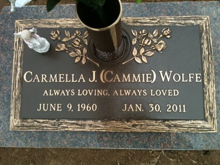 "MCCURLEY WOLFE, CARMELLA J ""CAMMIE"" - Tulsa County, Oklahoma   CARMELLA J ""CAMMIE"" MCCURLEY WOLFE - Oklahoma Gravestone Photos"