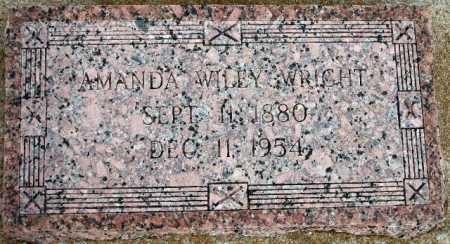 WILEY WRIGHT, AMANDA - Tulsa County, Oklahoma | AMANDA WILEY WRIGHT - Oklahoma Gravestone Photos