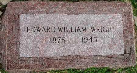 WRIGHT, EDWARD WILLIAM - Tulsa County, Oklahoma | EDWARD WILLIAM WRIGHT - Oklahoma Gravestone Photos