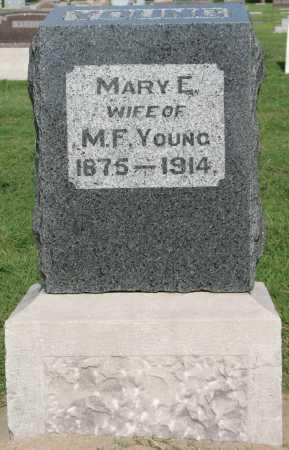 YOUNG, MARY E - Tulsa County, Oklahoma   MARY E YOUNG - Oklahoma Gravestone Photos