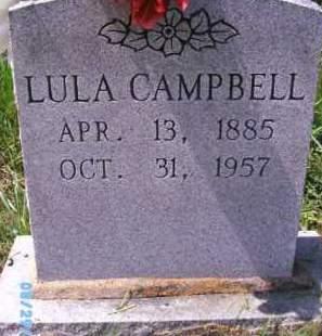 CAMPBELL, LULA - Wagoner County, Oklahoma | LULA CAMPBELL - Oklahoma Gravestone Photos