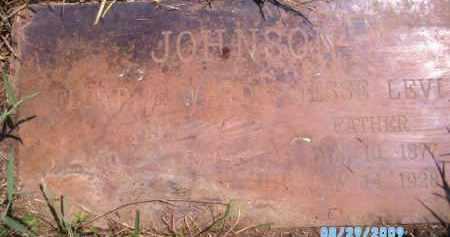 JOHNSON, JESSIE LEVI - Wagoner County, Oklahoma | JESSIE LEVI JOHNSON - Oklahoma Gravestone Photos