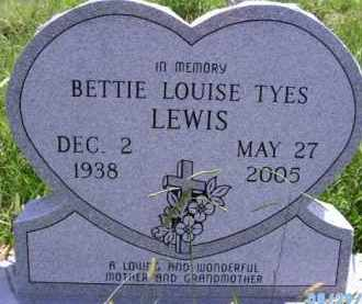 TYES LEWIS, BETTIE LOUISE - Wagoner County, Oklahoma | BETTIE LOUISE TYES LEWIS - Oklahoma Gravestone Photos