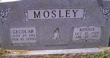 MOSLEY, MINNIE - Wagoner County, Oklahoma | MINNIE MOSLEY - Oklahoma Gravestone Photos