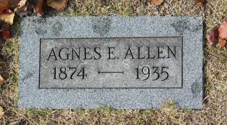 ALLEN, AGNES E - Washington County, Oklahoma   AGNES E ALLEN - Oklahoma Gravestone Photos