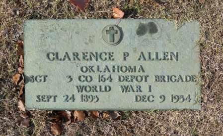 ALLEN (VETERAN WWI), CLARENCE P - Washington County, Oklahoma | CLARENCE P ALLEN (VETERAN WWI) - Oklahoma Gravestone Photos