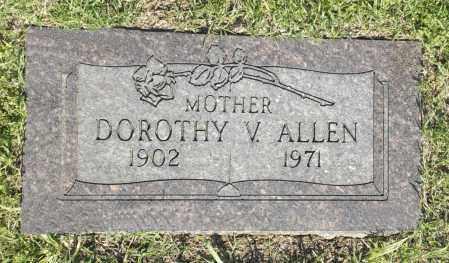 ALLEN, DOROTHY V. - Washington County, Oklahoma | DOROTHY V. ALLEN - Oklahoma Gravestone Photos