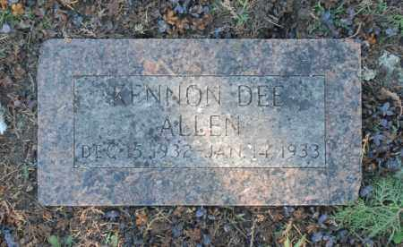 ALLEN, KENNON DEE - Washington County, Oklahoma | KENNON DEE ALLEN - Oklahoma Gravestone Photos