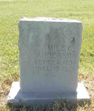 ANDERSON, SMILEY - Washington County, Oklahoma   SMILEY ANDERSON - Oklahoma Gravestone Photos