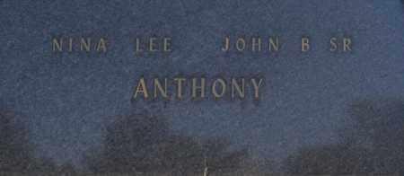 ANTHONY, JOHN B SR. - Washington County, Oklahoma | JOHN B SR. ANTHONY - Oklahoma Gravestone Photos