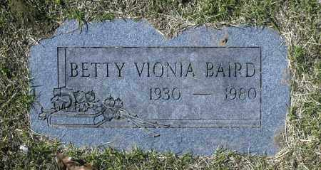 BAIRD, BETTY VIONIA - Washington County, Oklahoma | BETTY VIONIA BAIRD - Oklahoma Gravestone Photos
