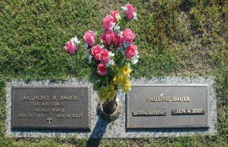 BAUER, PAULINE - Washington County, Oklahoma   PAULINE BAUER - Oklahoma Gravestone Photos