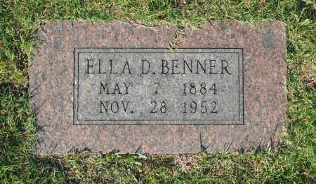 BENNER, ELLA D. - Washington County, Oklahoma | ELLA D. BENNER - Oklahoma Gravestone Photos