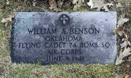 BENSON (VETERAN), WILLIAM A - Washington County, Oklahoma | WILLIAM A BENSON (VETERAN) - Oklahoma Gravestone Photos