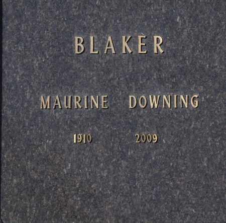 BLAKER, MAURINE DOWNING - Washington County, Oklahoma   MAURINE DOWNING BLAKER - Oklahoma Gravestone Photos