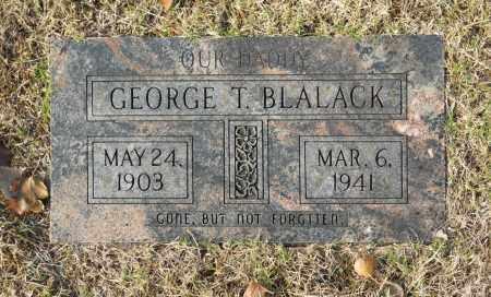 BLALACK, GEORGE T - Washington County, Oklahoma | GEORGE T BLALACK - Oklahoma Gravestone Photos