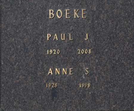 BOEKE, PAUL J - Washington County, Oklahoma | PAUL J BOEKE - Oklahoma Gravestone Photos