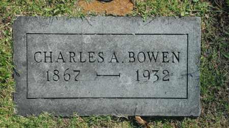 BOWEN, CHARLES A. - Washington County, Oklahoma   CHARLES A. BOWEN - Oklahoma Gravestone Photos