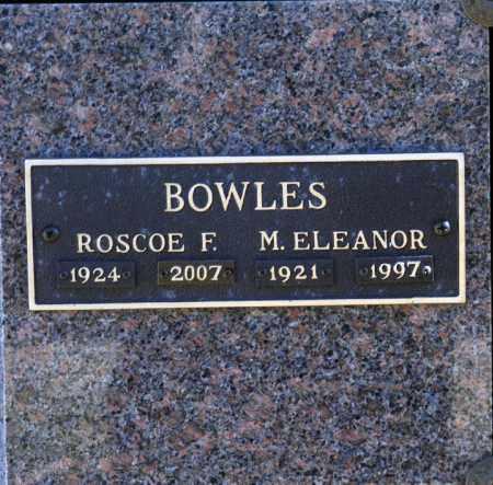 BOWLES, ROSCOE F - Washington County, Oklahoma | ROSCOE F BOWLES - Oklahoma Gravestone Photos