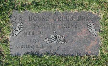 BRADY, VA. BOONE GREER - Washington County, Oklahoma   VA. BOONE GREER BRADY - Oklahoma Gravestone Photos