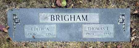 BRIGHAM, EDITH A - Washington County, Oklahoma | EDITH A BRIGHAM - Oklahoma Gravestone Photos