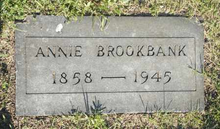 BROOKBANK, ANNIE - Washington County, Oklahoma   ANNIE BROOKBANK - Oklahoma Gravestone Photos