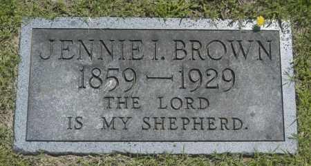 BROWN, JENNIE I. - Washington County, Oklahoma | JENNIE I. BROWN - Oklahoma Gravestone Photos