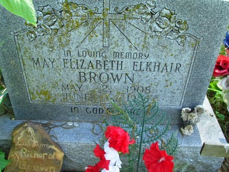 BROWN, MAY - Washington County, Oklahoma | MAY BROWN - Oklahoma Gravestone Photos