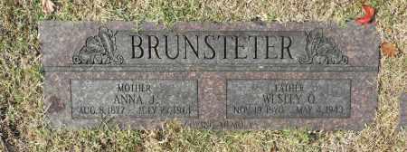 BRUNSTETER, WESLEY O - Washington County, Oklahoma | WESLEY O BRUNSTETER - Oklahoma Gravestone Photos