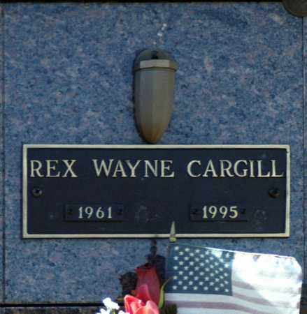 CARGILL, REX WAYNE - Washington County, Oklahoma   REX WAYNE CARGILL - Oklahoma Gravestone Photos