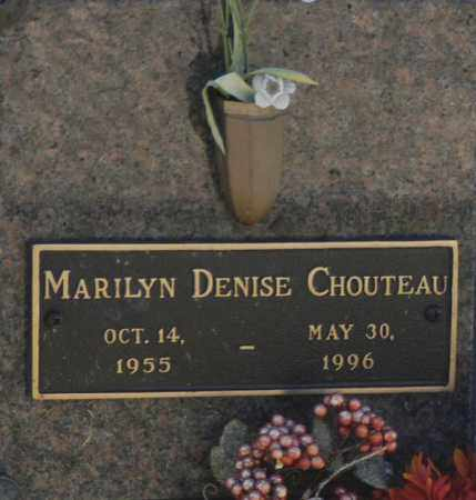 CHOUTEAU, MARILYN DENISE - Washington County, Oklahoma | MARILYN DENISE CHOUTEAU - Oklahoma Gravestone Photos