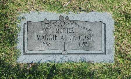 COKE, MAGGIE ALICE - Washington County, Oklahoma | MAGGIE ALICE COKE - Oklahoma Gravestone Photos