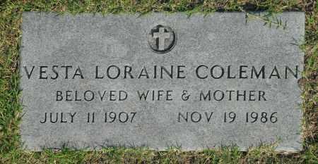 COLEMAN, VESTA LORAINE - Washington County, Oklahoma | VESTA LORAINE COLEMAN - Oklahoma Gravestone Photos
